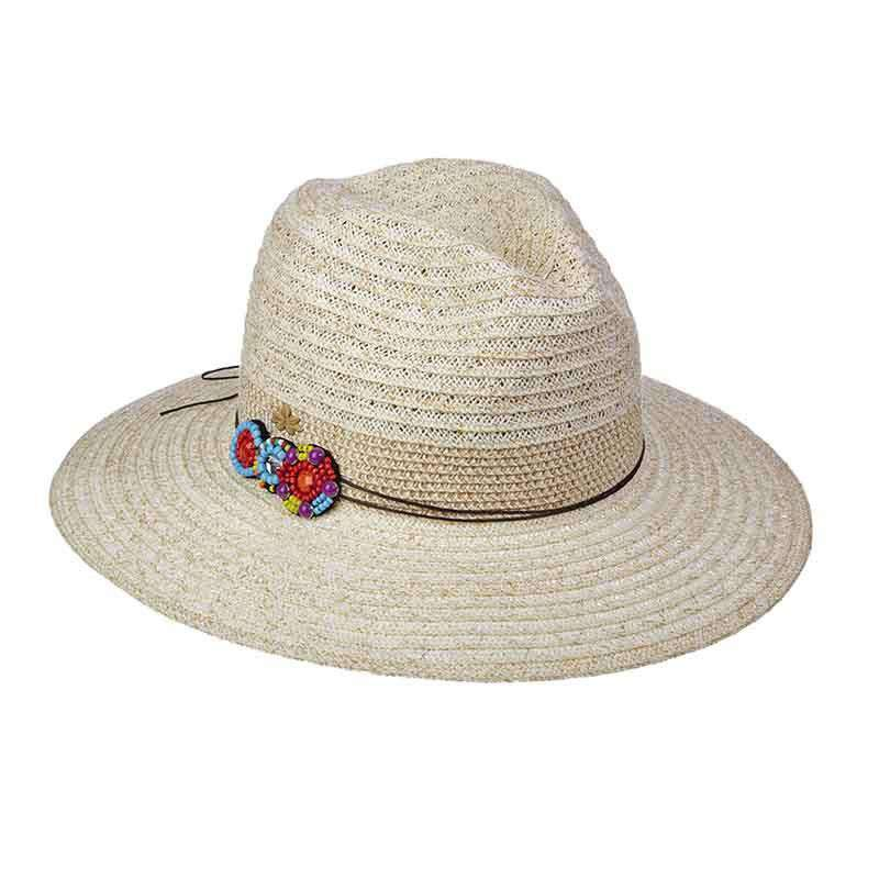 Summer Safari Hat with Bead Applique by Cappelli Straworld - SetarTrading Hats