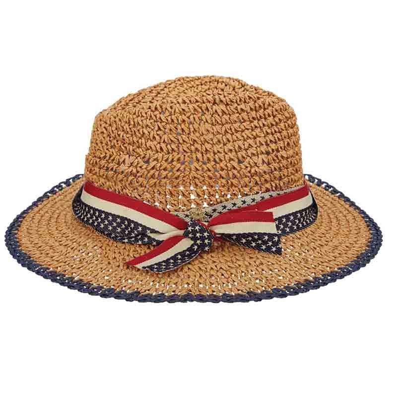 Nautical US Flag Band Fedora by Cappelli