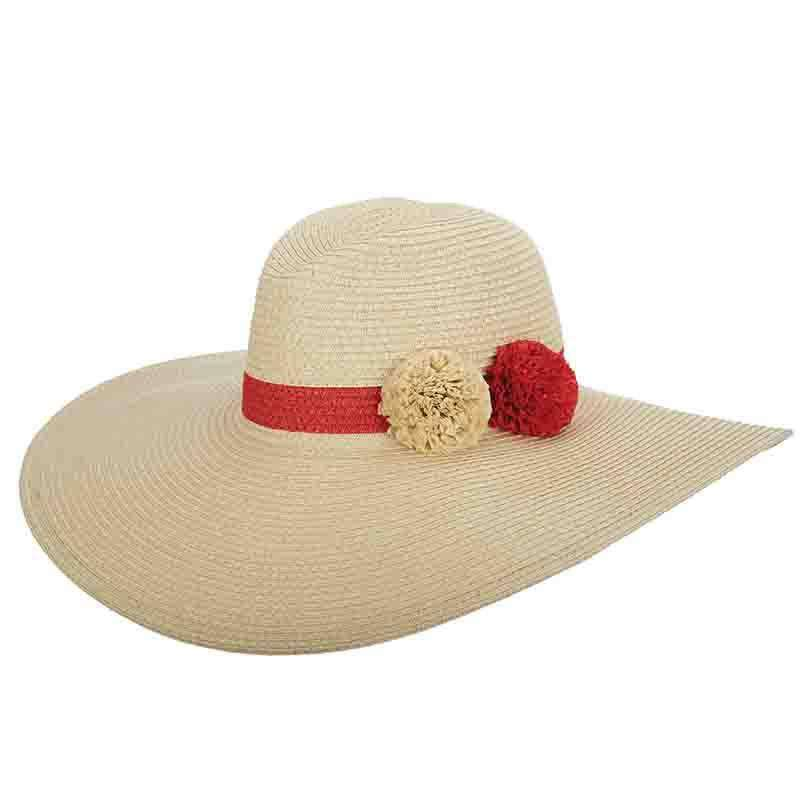 Extra Large Brim Pom Pom Safari Hat - Cappelli Straworld - SetarTrading Hats