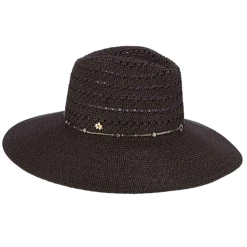 Safari Hat with Jewel Studded Metal String Band - Cappelli Straworld