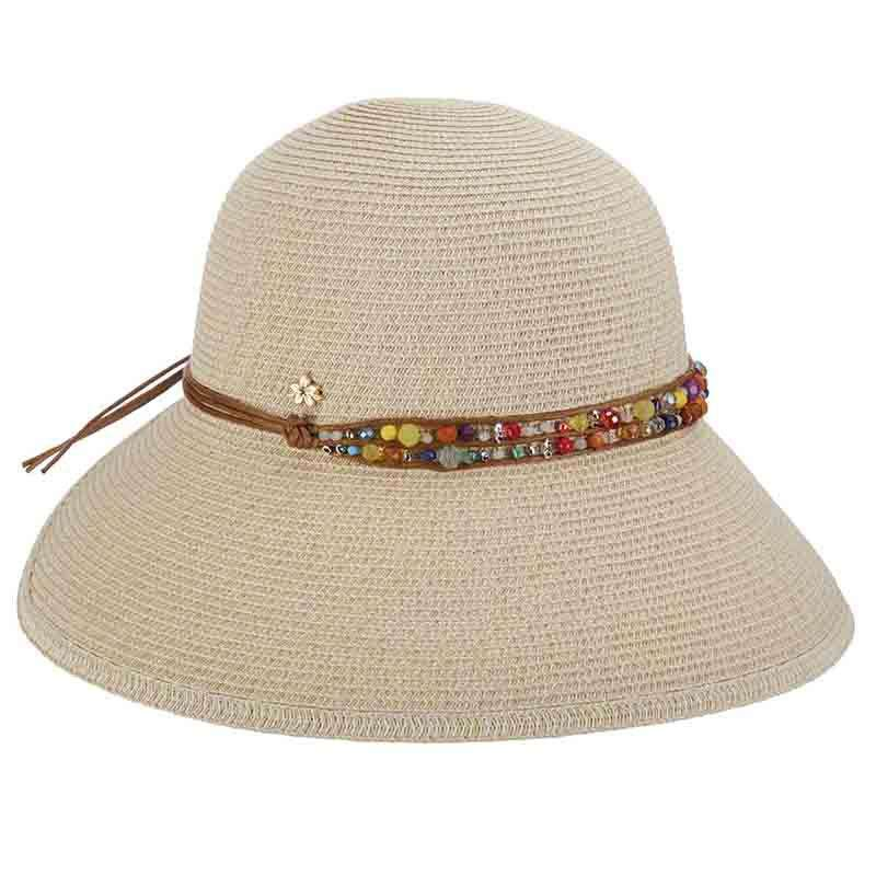 Butterfly Split Brim Sun Hat with Bead Band - Cappelli Straworld - SetarTrading Hats