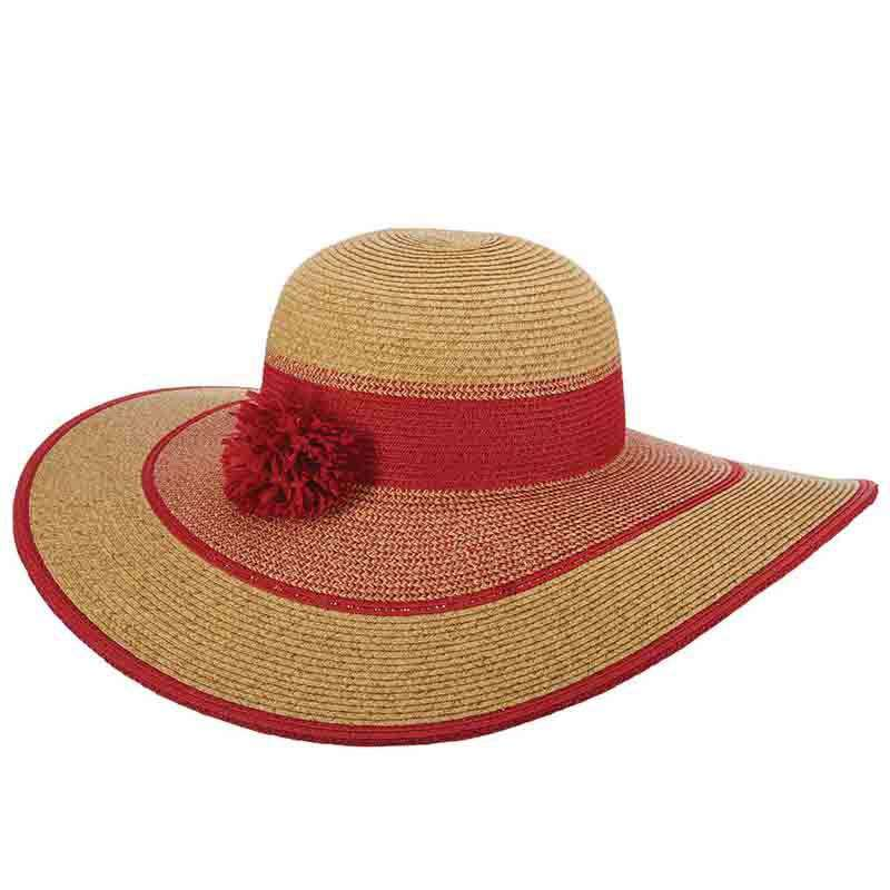 e14e11ecfd1 Pom Pom Accent Floppy Hat - Cappelli Straworld Beatiful Sun Protection