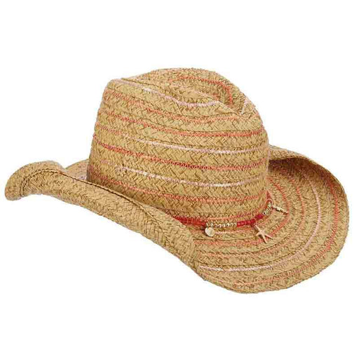 Braided Cowboy Hat with Metallic Accent - Cappelli Straworld - SetarTrading Hats