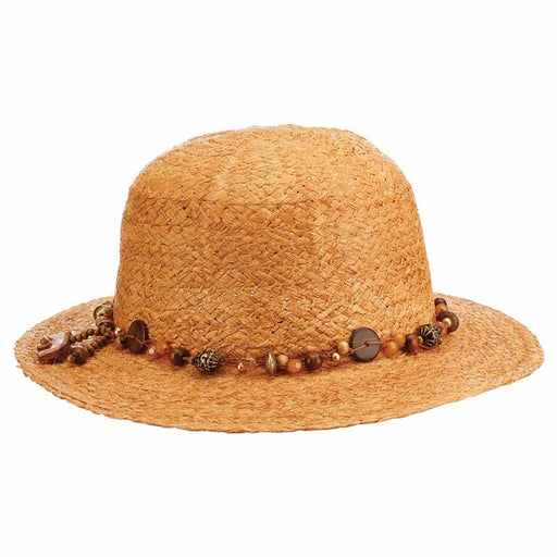 CSW332 bead band safari pith helmet womens hat raffia straw hat cappelli straworld hats