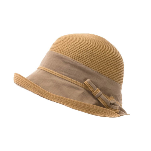 Chic Summer Cloche Hat with Ramie Brim - Boardwalk Style Hats