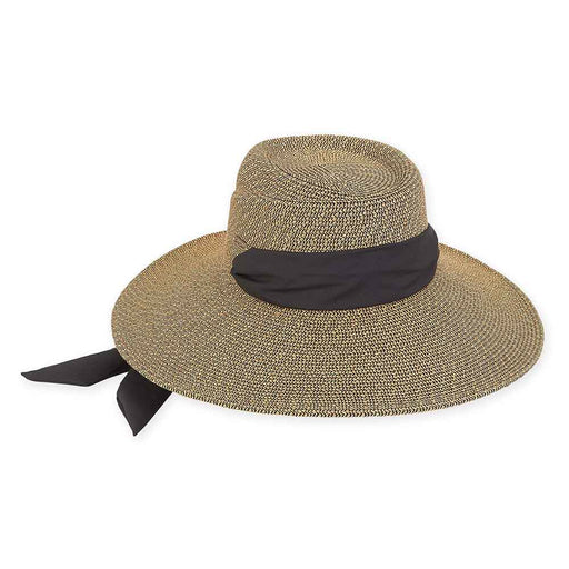 Convertible Hat with Black Sash Tie - Sun'N'Sand®