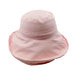 "Best selling up brim cotton hat.  Soft, packable, shapeable brim hat.  Double layer 4"" wide brim provides excellent sun protection.  Lined crown.  Drawstring inside crown to adjust size.  One size. Runs larger, fits up to 58.5 cm.  100% cotton."