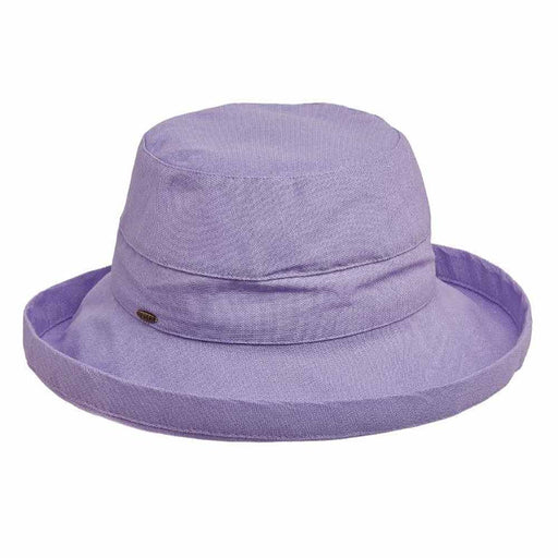 Cotton Up Turned Brim Golf Hat - Scala Hats for Women