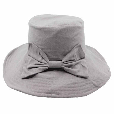"Large bow accented summer hat for women.  Shapeable brim, 3.25"" wide to provide good sun protection.  Inner drawstring to adjust fit.  Lightweight.  Packable hat."