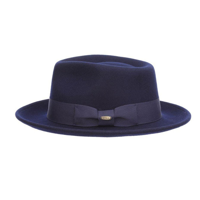 Crushable Water Repellent Felt Fedora Winter Hat - Scala Hat