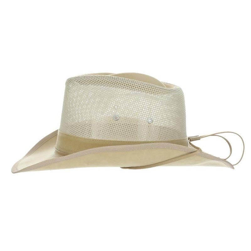 DPC Global Western Soaker Hat with Chin Cord - Dorfman Pacific Hats