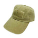 DPC Unstructured Cotton Denim Baseball Cap with Faded USA Flag khaki
