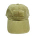 DPC Unstructured Cotton Denim Baseball Cap with Faded USA Flag khaki denim