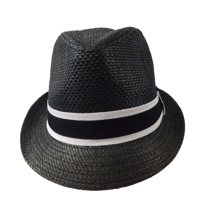 Fedora with Black and White Band - SetarTrading Hats