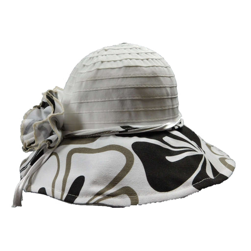 Black and White Ribbon Bucket Hat - SetarTrading Hats