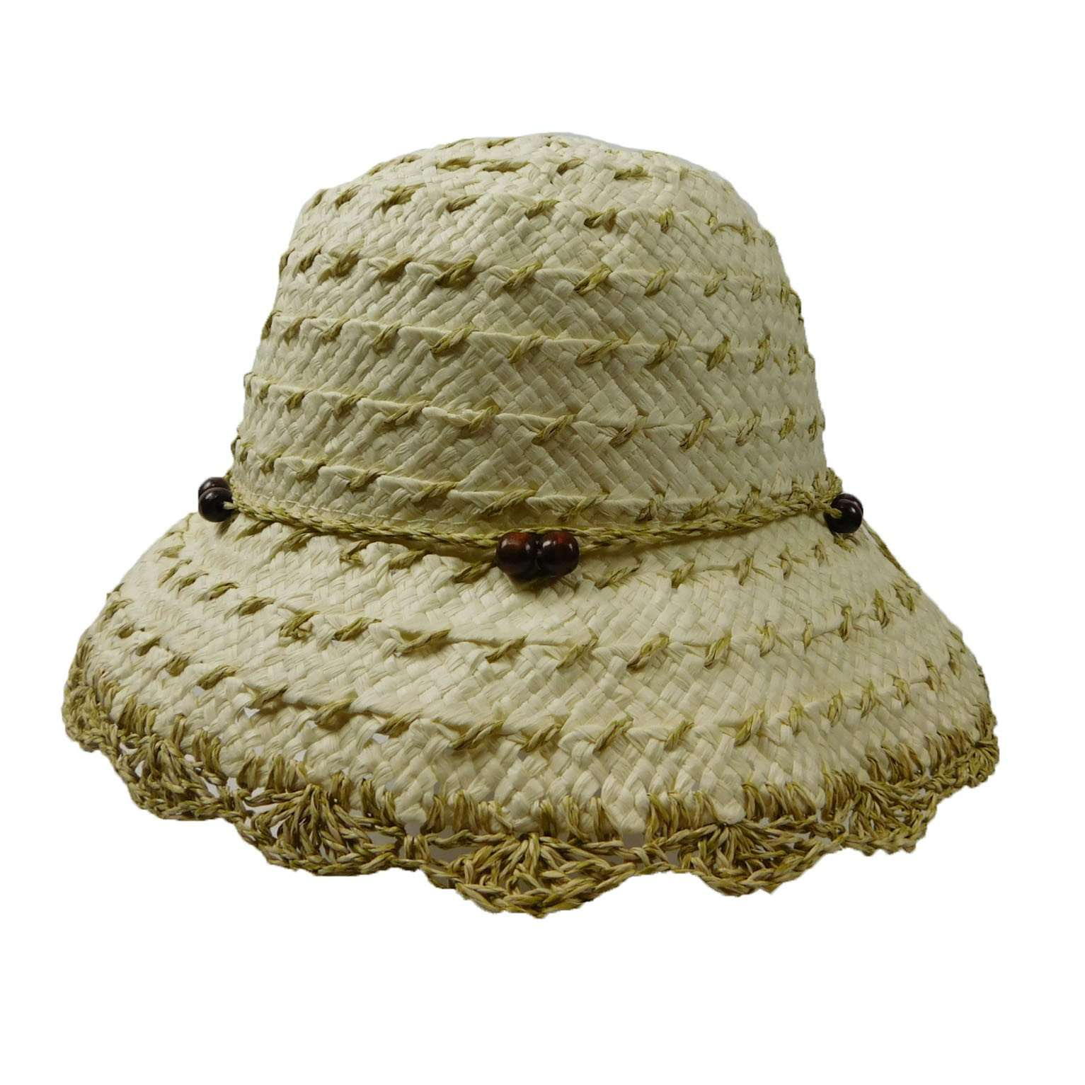 Summer Bucket Hat with Crocheted Brim - SetarTrading Hats