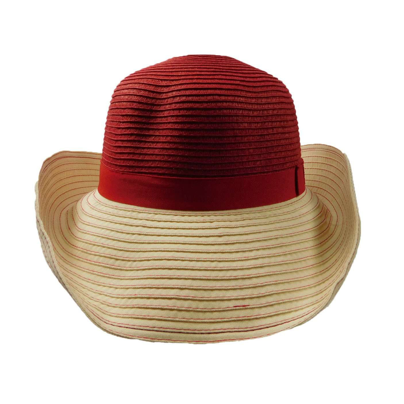 Big Brim Shapeable Straw and Ribbon Hat - SetarTrading Hats