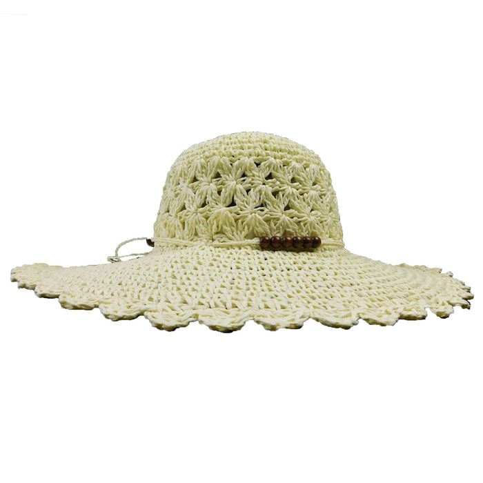Crochet Floppy with Wood Bead Accent - SetarTrading Hats