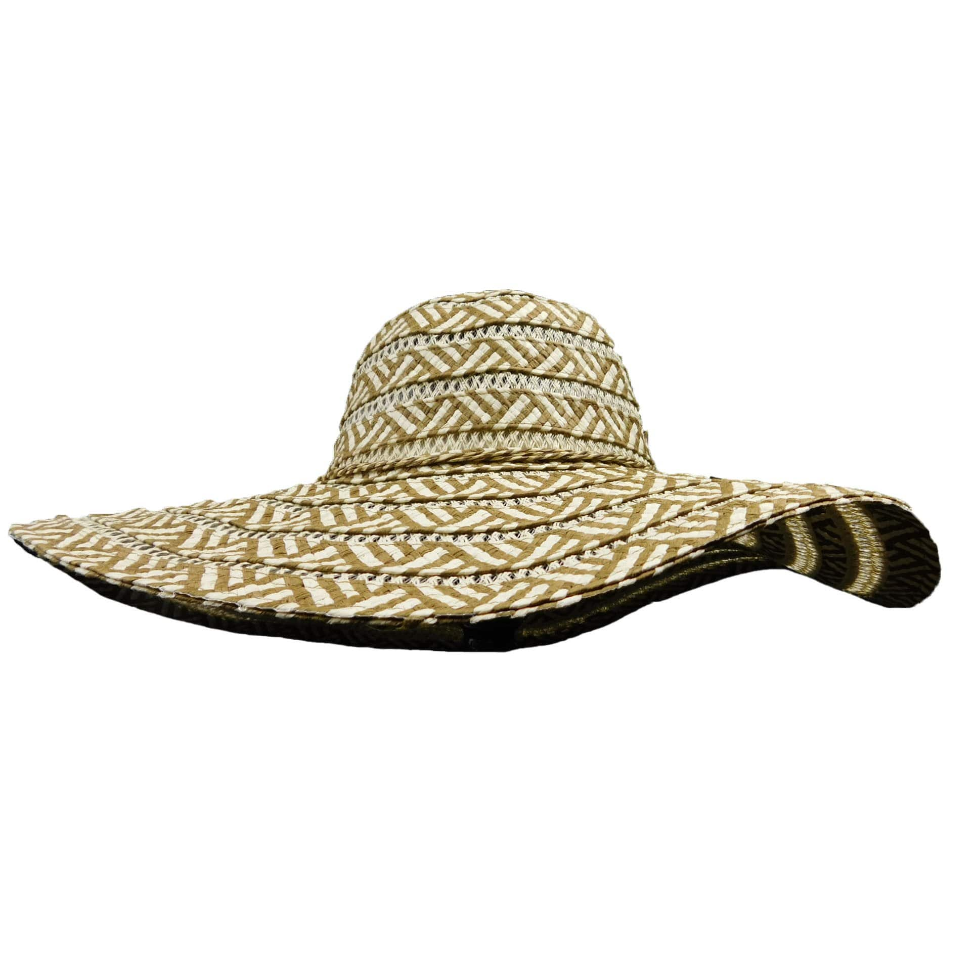 Zig Zag Pattern Floppy Hat - SetarTrading Hats
