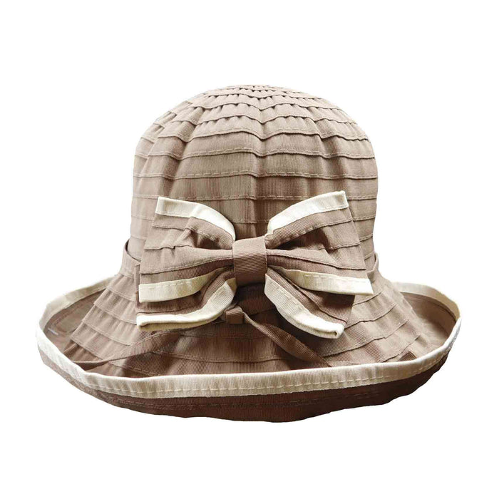 Kettle Brim Ribbon Hat with Big Bow - SetarTrading Hats