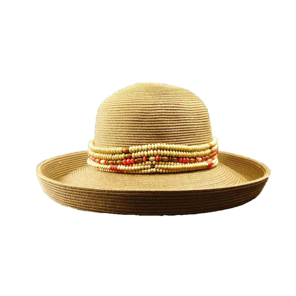 Kettle Brim Hat with Wooden Beads - SetarTrading Hats