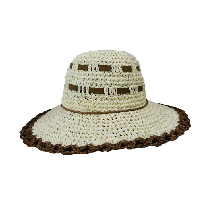 Crocheted Straw Floppy Hat - SetarTrading Hats