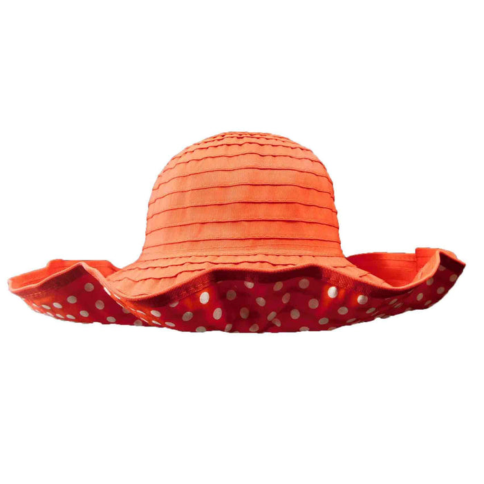 Polka Dot Ribbon Shapeable Hat - SetarTrading Hats