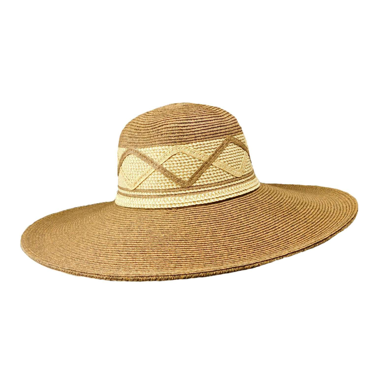Large Flat Brim Summer Hat - SetarTrading Hats