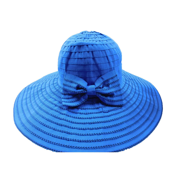 Big Bow Stitched Brim Floppy - SetarTrading Hats