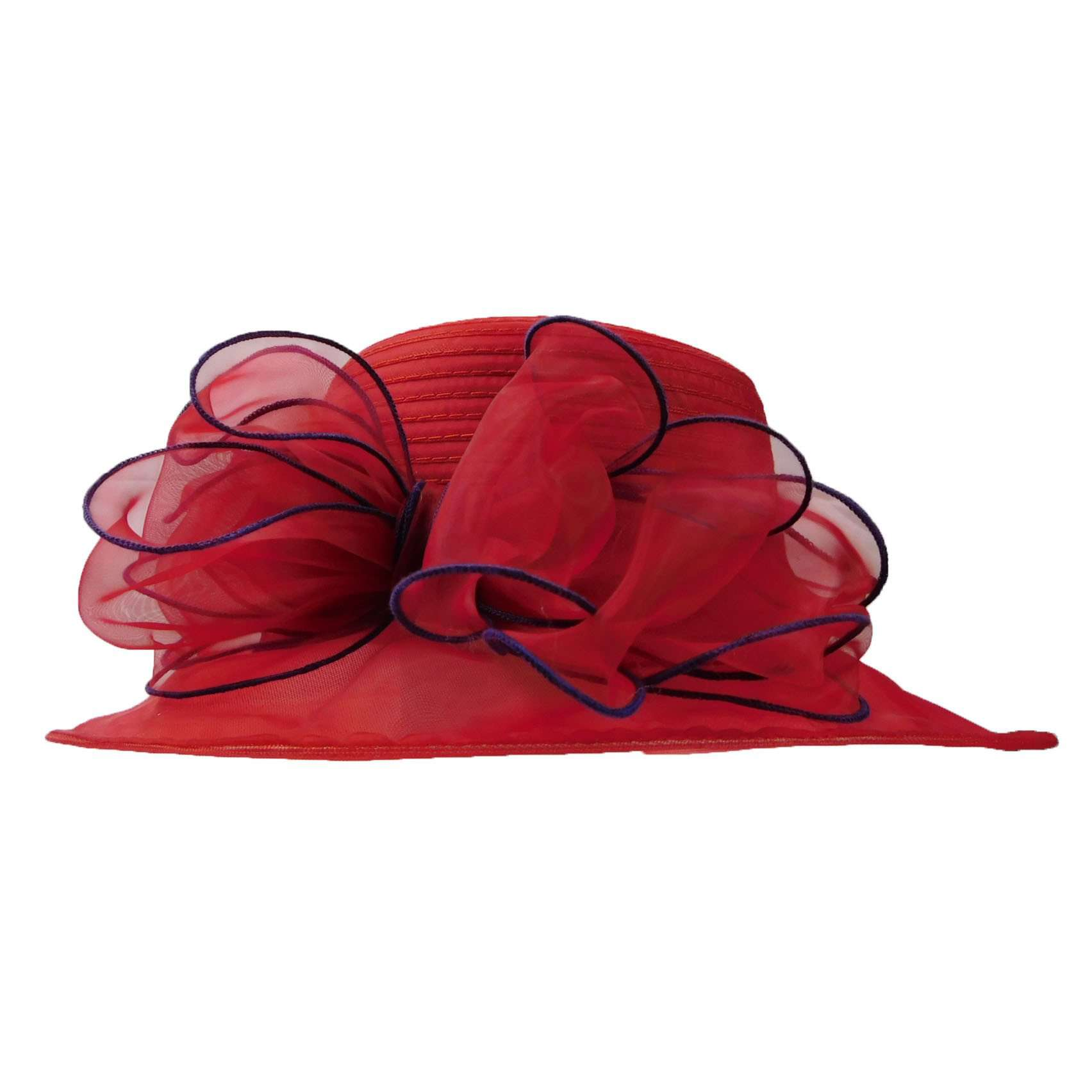 Organza with Large Bow - SetarTrading Hats