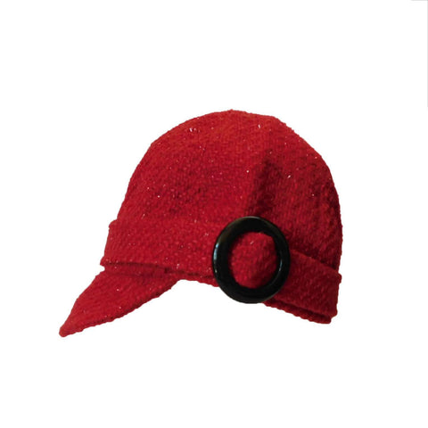 Red Jockey Cap by Scala - Petite