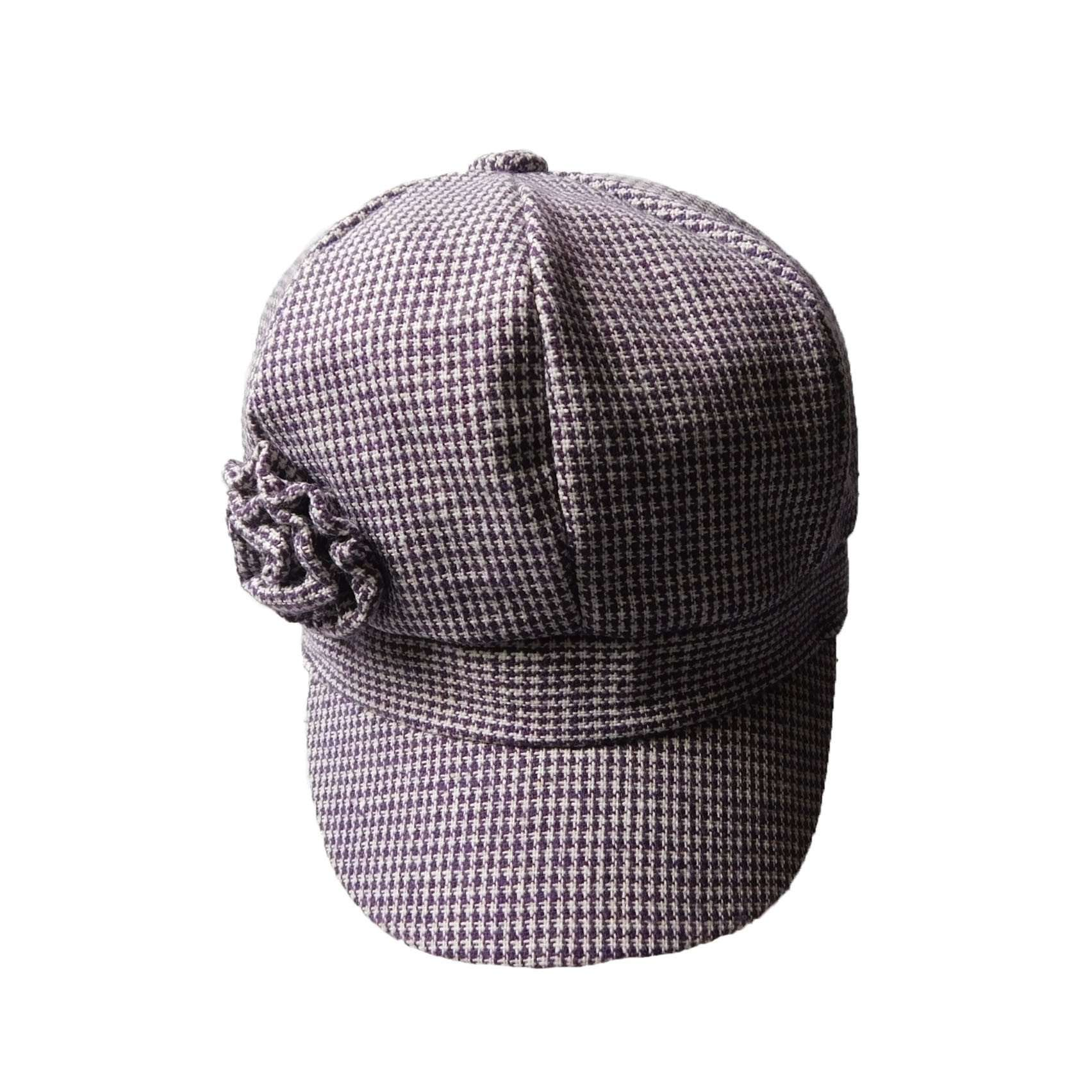 Girl's Newsboy Cap with Flower - SetarTrading Hats