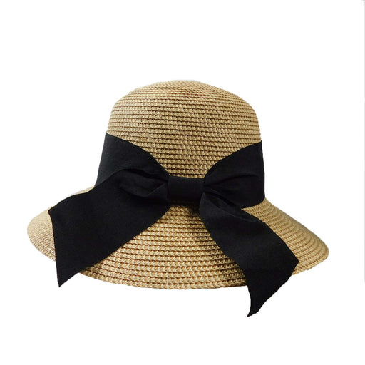 Big Brim Sun Hat with Wide Ribbon and Bow - SetarTrading Hats