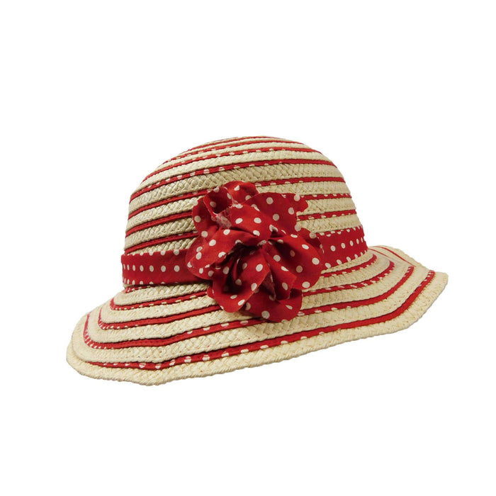 Girl's Straw and Ribbon Floppy - SetarTrading Hats