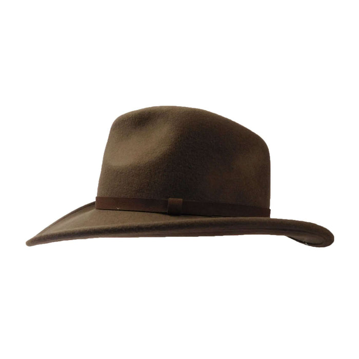 Wool Felt Outback with Leather Band - SetarTrading Hats