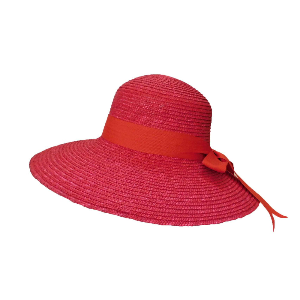 Red Straw Hat with Ribbon and Bow - SetarTrading Hats