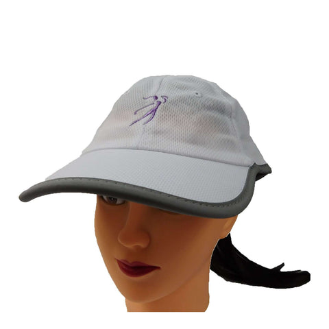 Ginnie Cap in Rayon Mesh with Golf Logo