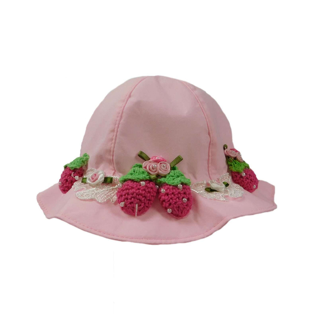 Bucket Hat with Crochet Strawberries - SetarTrading Hats