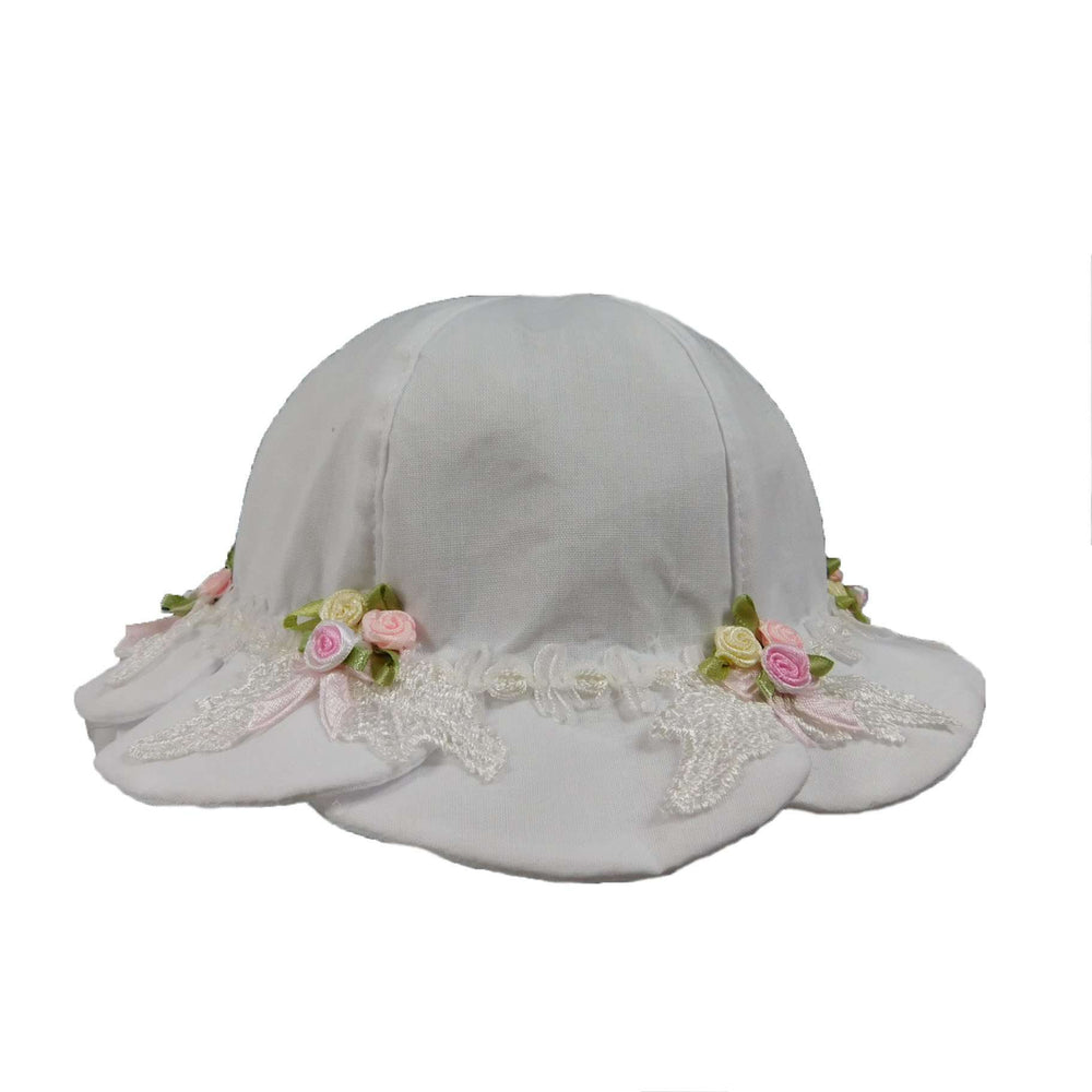 White Scalloped Brim Hat for Toddler Girls - SetarTrading Hats