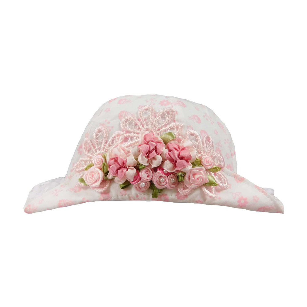 Vintage Pink and White Hat for Baby Girls - SetarTrading Hats