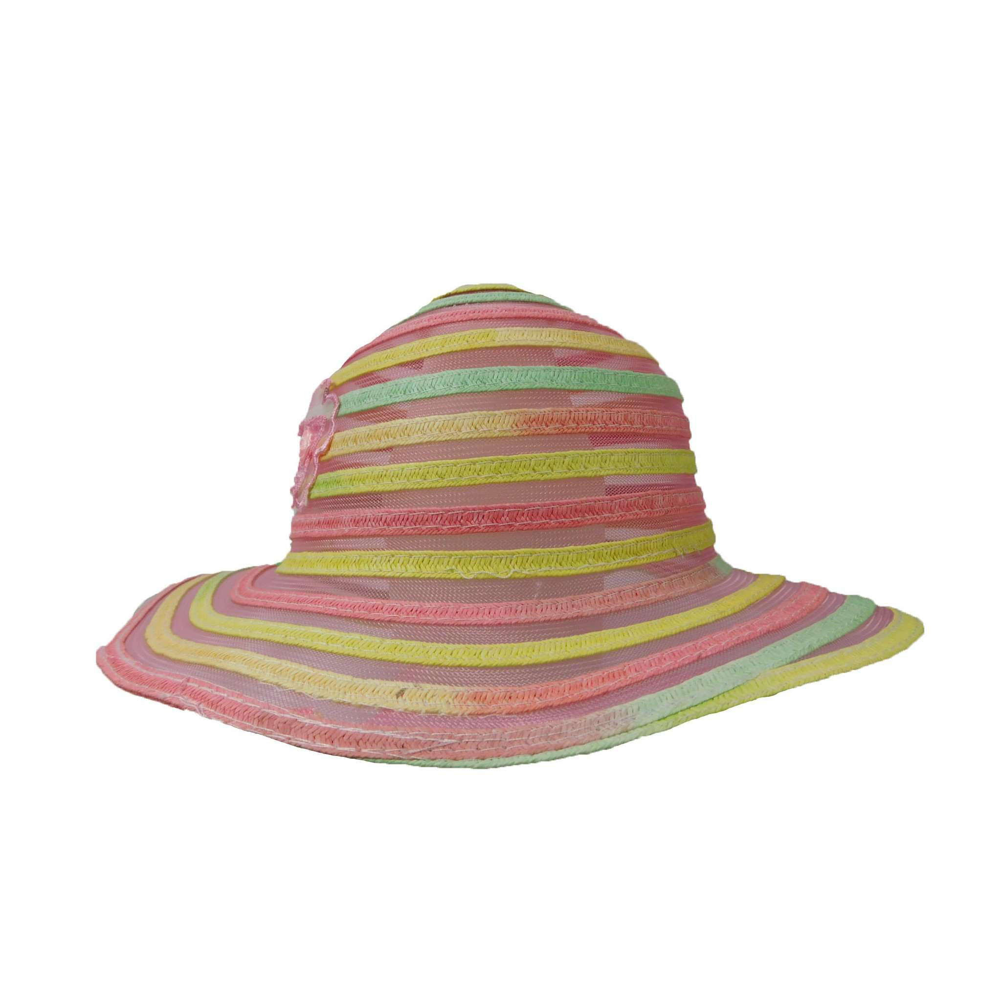 Ribbon and Mesh Toddler Floppy Hat - SetarTrading Hats