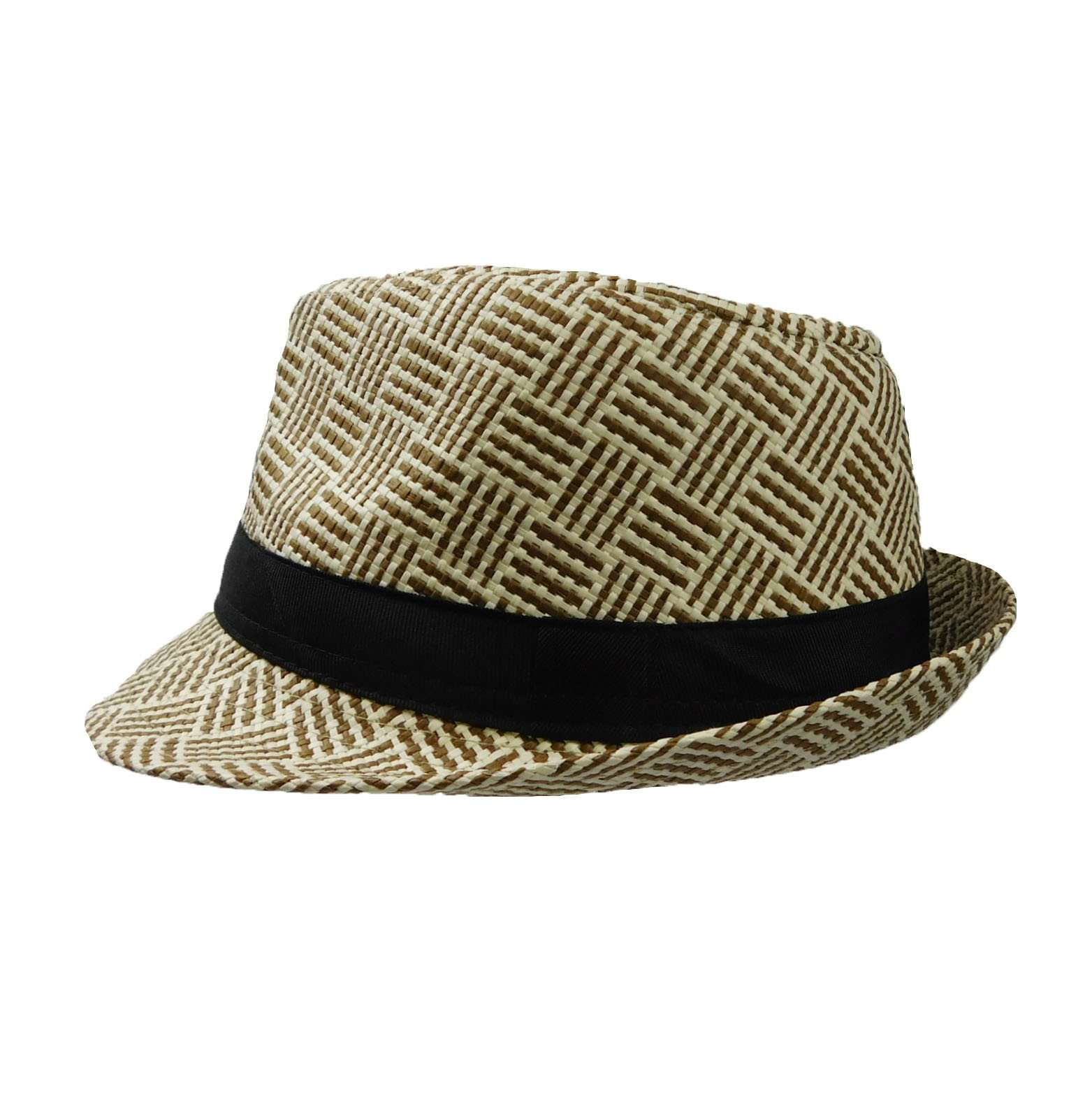 Summer Trilby with Crossbar Pattern - SetarTrading Hats