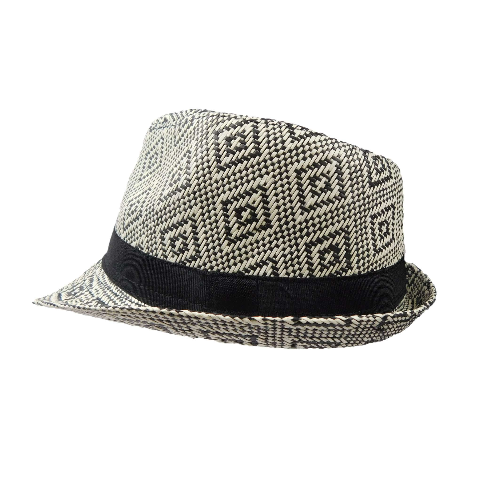 Summer Trilby with Geometric Pattern - SetarTrading Hats