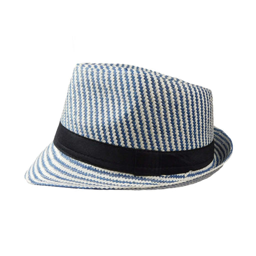 Summer Trilby with Diagonal Stripes - SetarTrading Hats