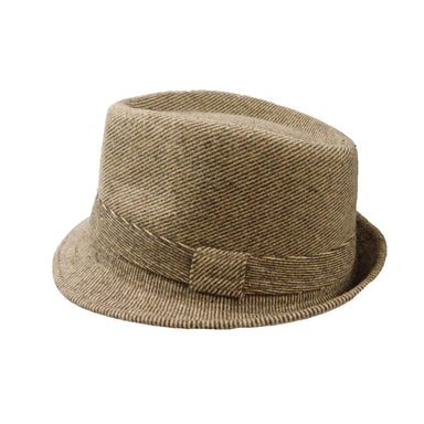 Brown Tweed Winter Trilby - SetarTrading Hats