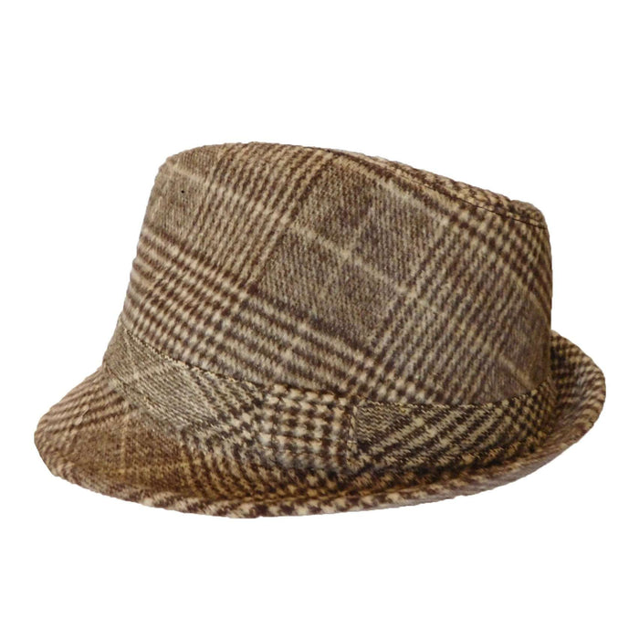 Plaid Winter Trilby Brown - SetarTrading Hats