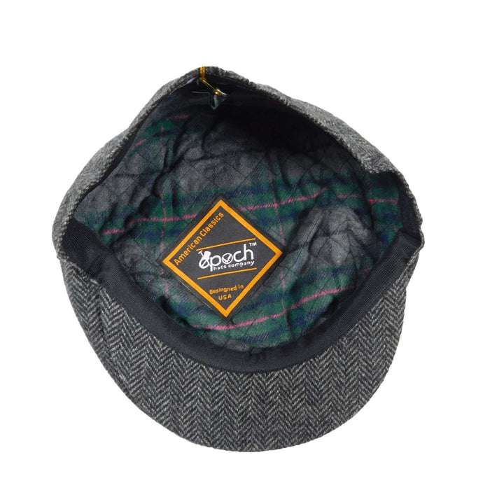 Dark Grey Herringbone Ivy Cap - SetarTrading Hats