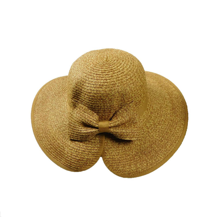 Split Brim Summer Hat with Bow - SetarTrading Hats