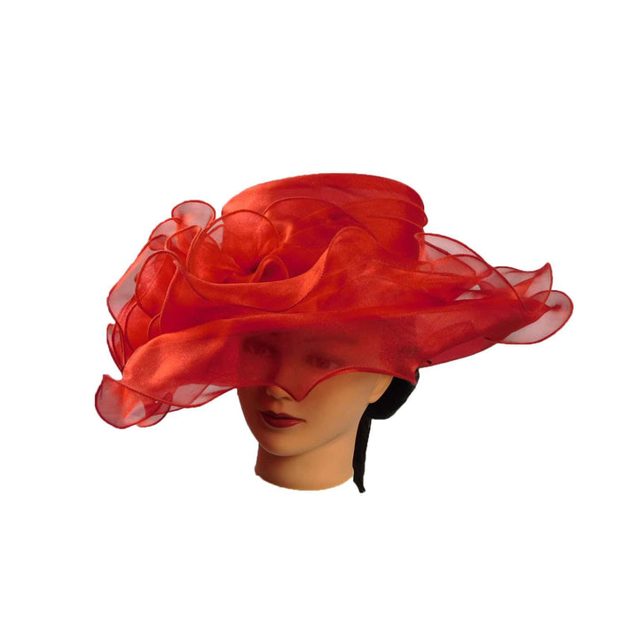 Organza with Lots of Ruffles! - SetarTrading Hats