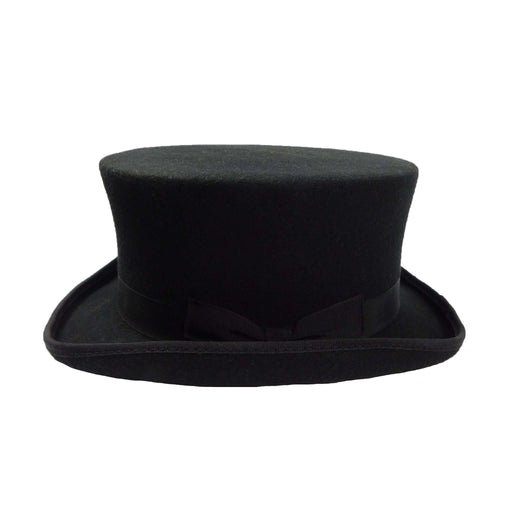 Classic Short Black Wool Felt Top Hat by JSA for Men - SetarTrading Hats